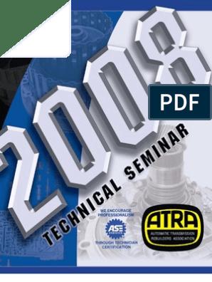 2008 ATRA Seminar Manual_1 | Transmission (Mechanics) | Clutch