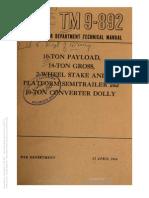 Tm 9-892 SEMI-TRAILER 10-TON, 1944