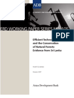 Efficient Technology and the Conservation of Natural Forests