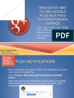 Using Google Plus as a Free Autoresponder Service