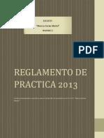 Reglamento de Practica 2013