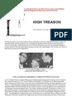 High Treason - Laws Against Establishing a Foreign Power in England