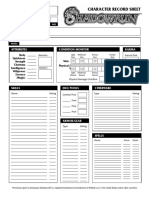 Shadowrun 3rd Edition - Character Sheet