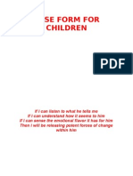 Case Record Form for Children
