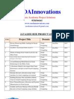 2013/2012 Java IEEE Projects List