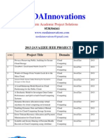 2013 Java IEEE Projects List