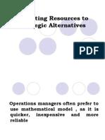 Allocating Resources to Strategic Alternatives TP I