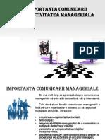 Importanţa comunicării în activitatea managerială