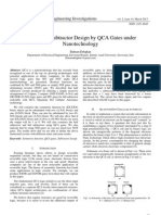Generating Subtractor Design by QCA Gates under Nanotechnology
