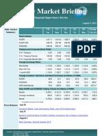 Weekly Market Briefing (Aug 7, 2013)