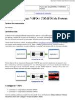 Puerto Serie Virtual VSPD y COMPIM de Proteus