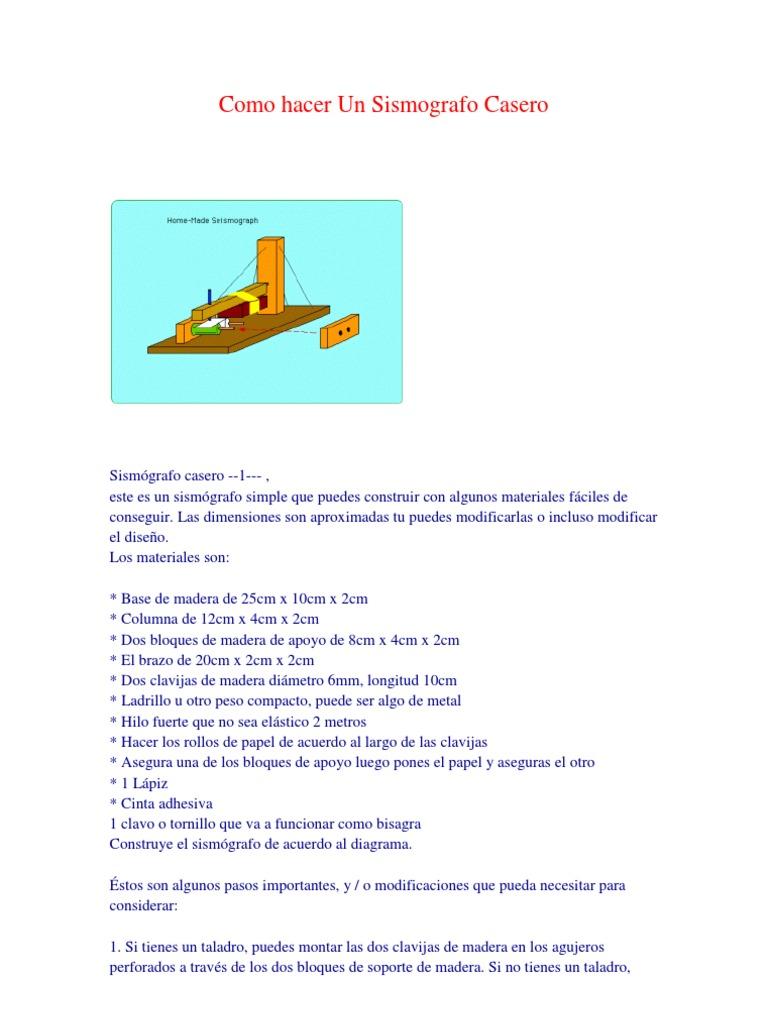 Como hacer un sismografo casero - Como construir un tejado ...