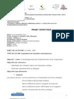 Proiecte Lectie - Franceza, Clasa a 4 A