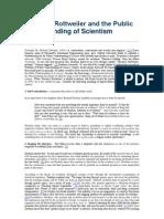 Darwin's Rottweiler and the Public Understanding of Scientism