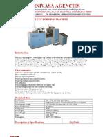 SSA-A12 Paper Cup Machine Book Let
