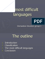 The most difficult languages.ppt
