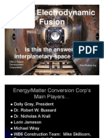 Inertial Electrodynamic Fusion - Is this the answer to interplanetary space travel?