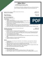 jillian oliver online resume