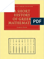 A Short History of Greek Mathematics (1884) James Gow