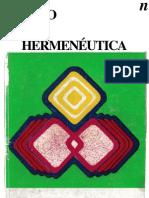 Mito y Hermeneutica - Varios Autores