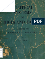 Political Systems of Highland Burma-kachin Structure