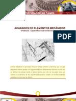 Acabados de Elementos Mecanicos Interpretacion de Planos Sena