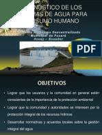 Diagnostico de los sistemas de agua del cantón Pucará