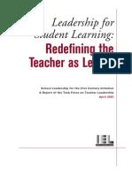 IEL - Redefining teacher as leader.pdf