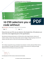 10 CSS selectors you shouldn't code without _ Webdesigner Depot