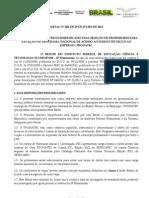 Edital No 100 de 29 de Julho de 2013 - Pronatec Ext Prof