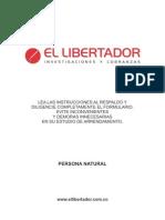 Formulario El Libertador