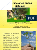 Interacciones en Los Ecosistemas