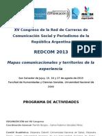 Programa de Actividades REDCOM 2013