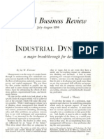 Industrial Dynamics--A Major Breakthrough for Decision Makers