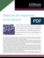 Selección de maquinaria en la industria