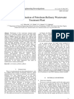 Performance Evaluation of Petroleum Refinery Wastewater Treatment Plant
