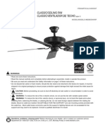 Harbor Breeze Ceiling Fan Manual Model BDB52WW5P
