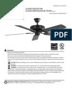 Harbor Breeze Ceiling Fan Manual Model BDB52WW5P