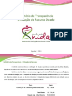 Relatório de Transparência - Doadora Erika Moreira