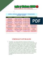 Aceites y Cremas, elaboracion, fitoterapia(9 páginas)