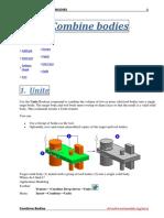 Unigraphics NX8 - Combine Bodies