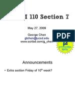 BIMM 110 Section 7 Slides