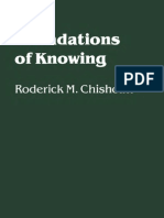 Chisholm - The Foundations of Knowing