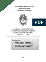 PROGRAMA DE CAPACITACIÓN ADMINISTRATIVA 2013