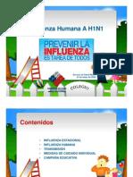 Influenza a H1N1 Educacion