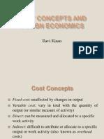 Cost Concepts and Design Economics