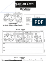 """Regular Show - """"Party Re-Pete"""" Pitch Board"""