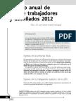 Cálculo anual de ISR de trabajadores y asimilados 2012