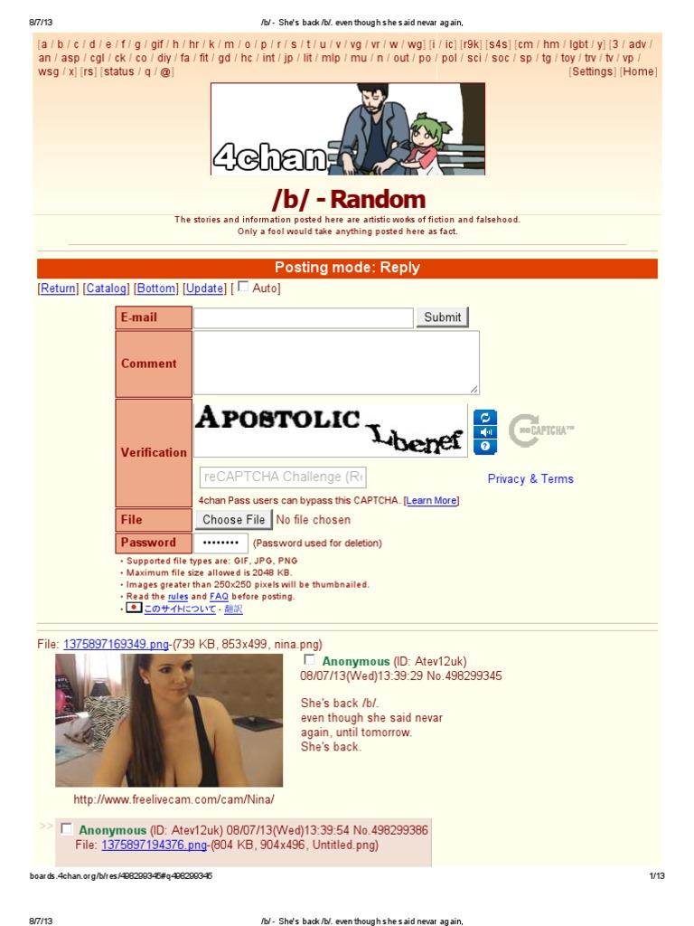 4Chan Gif cam girl trolls 4chan's /b/ | computing | technology
