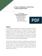 Conductivity Sensor Calibrations to Meet Industry Requirement Braga 2